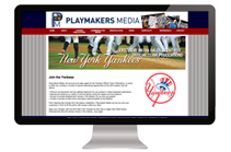 Playmakers Media Website Design