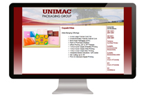 Unimac Packaging Website Design